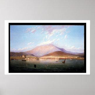 Hobart Town with Mount Wellington, Tasmania Poster