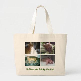 Hobbes aka Stinky the Cat Jumbo Tote Bag