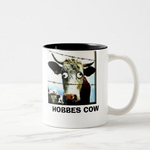 HOBBES COW Two-Tone COFFEE MUG