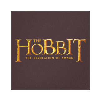 Hobbit Logo - Gold Canvas Print