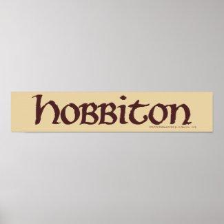 Hobbiton Name Solid Poster