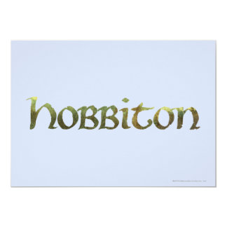 HOBBITON™ Textured Personalized Announcement