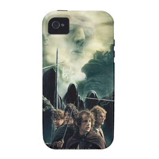Hobbits listo para luchar vibe iPhone 4 fundas