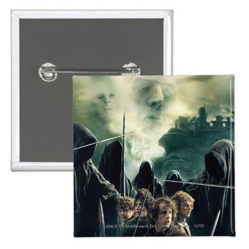 Hobbits listo para luchar pin
