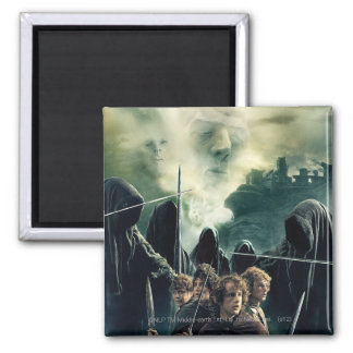 Hobbits Ready to Battle 2 Inch Square Magnet