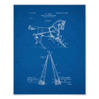 Hobble For Driving-horses Patent - Blueprint Posters