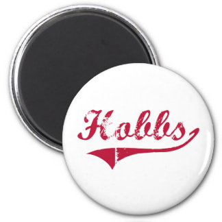 Hobbs New Mexico Classic Design 2 Inch Round Magnet