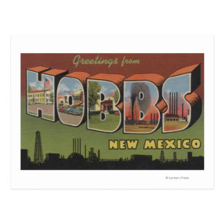 Hobbs, New Mexico - Large Letter Scenes Postcard