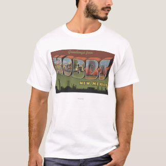 Hobbs, New Mexico - Large Letter Scenes T-Shirt