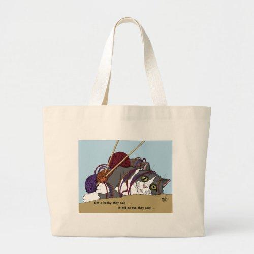 Hobby cat large tote bag