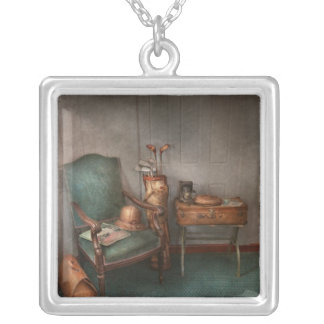 Hobby - Golf - Photography - Persuits of happiness Silver Plated Necklace