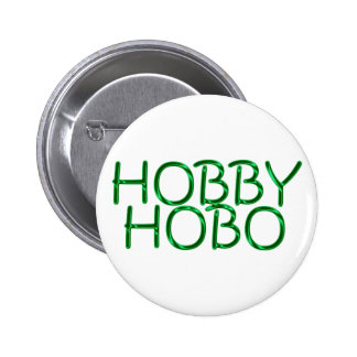 hobby hobo pinback button
