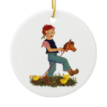 Hobby Horse Ceramic Ornament