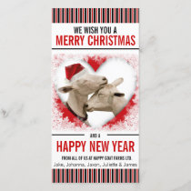 Hobby or Goat Farm Christmas Holiday Card