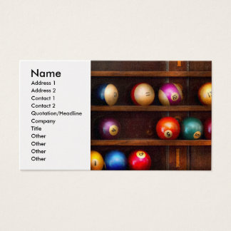 Hobby - Pool - Let's play billiards Business Card