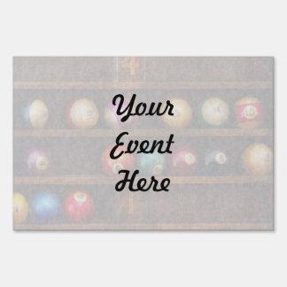 Hobby - Pool - Let's play billiards Yard Signs