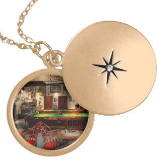 Hobby - Pool - The billiards club 1915 Gold Plated Necklace