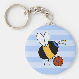 hobby - rather bee shooting hoops no txt key chains