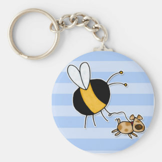 hobby - rather bee walking my dog no txt keychain