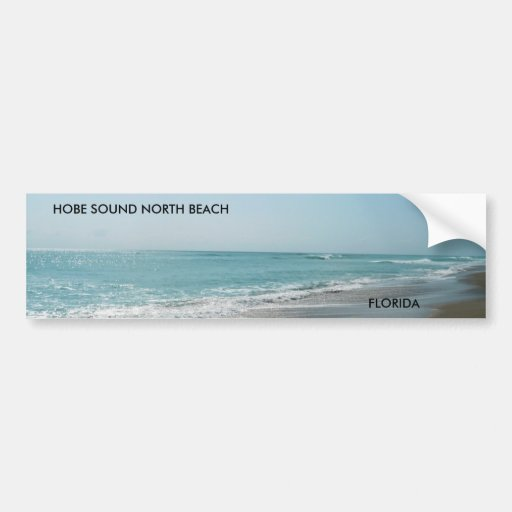 HOBE SOUND BEACH,  FLORIDA... CAR BUMPER STICKER
