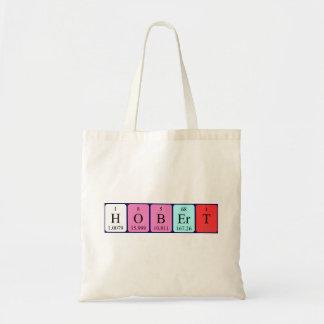 Hobert periodic table name tote bag