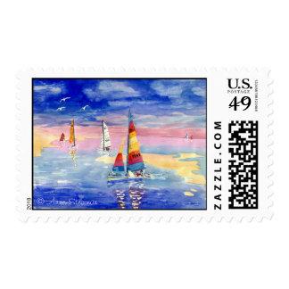 Hobie Cat Saliboats Stamps