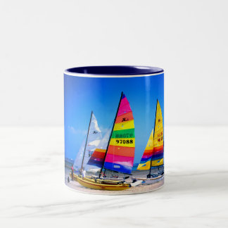 HOBIE CATS IN JERSEY Two-Tone COFFEE MUG
