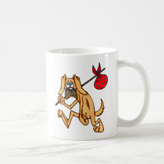 Hobo Bum Cartoon Dog Coffee Mug