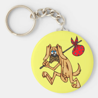 Hobo Bum Cartoon Dog Keychain