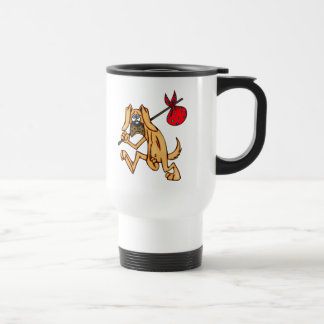 Hobo Bum Cartoon Dog Travel Mug