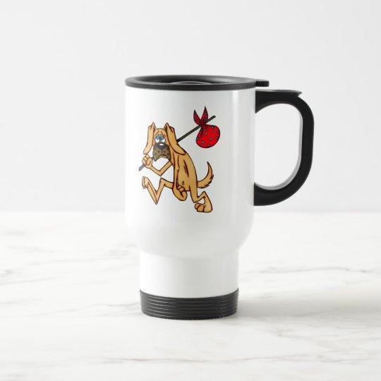 Hobo Bum Cartoon Dog Travel Mug