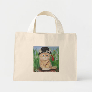 Hobo Cat Mini Tote Bag