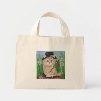 Hobo Cat Mini Tote Bag