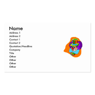 Hobo Clown Head Business Card