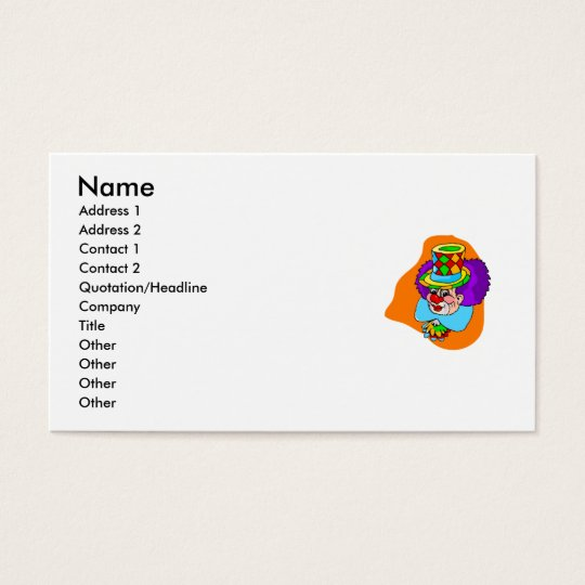 Hobo Clown Head Business Card