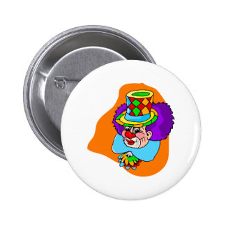 Hobo Clown Head Button
