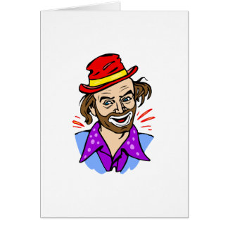 Hobo Clown Head Card