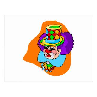 Hobo Clown Head Postcard