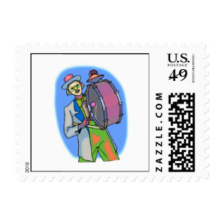 hobo clown postage stamps