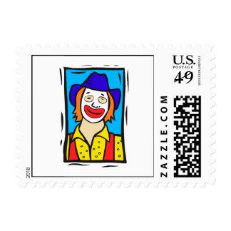 Hobo Clown Postage Stamp