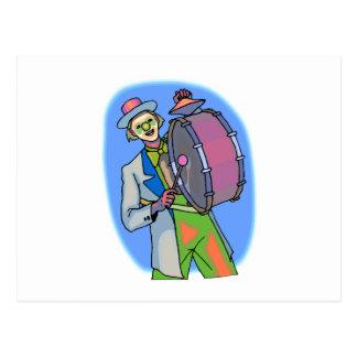 hobo clown postcard