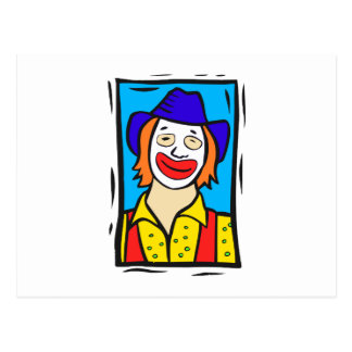 Hobo Clown Post Card