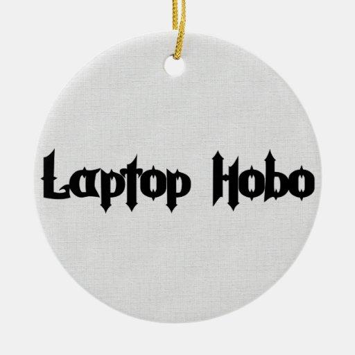 Hobo del ordenador portátil adornos de navidad