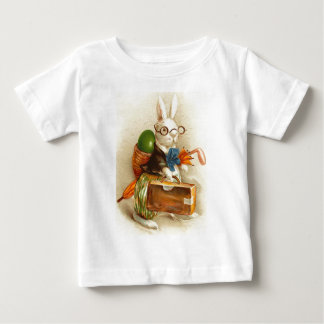 Hobo Easter Bunny Colored Egg Suitcase Baby T-Shirt