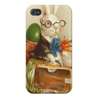 Hobo Easter Bunny Colored Egg Suitcase iPhone 4 Case