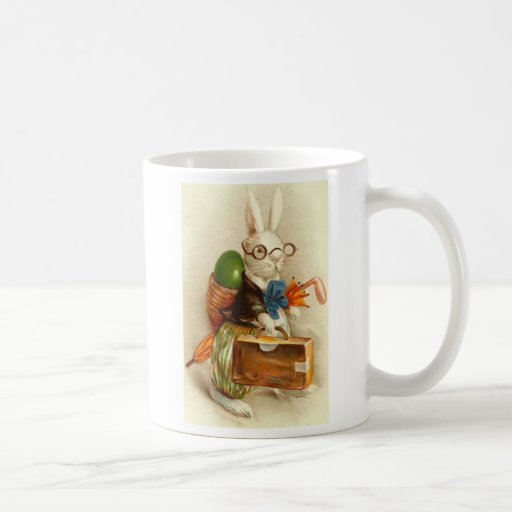 Hobo Easter Bunny Colored Egg Suitcase Classic White Coffee Mug