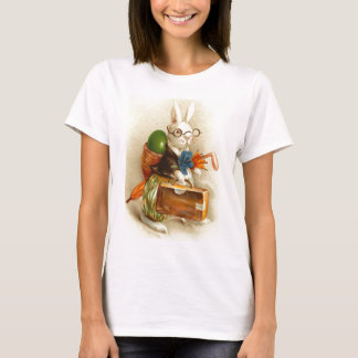 Hobo Easter Bunny Colored Egg Suitcase T-Shirt