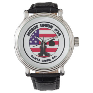 """HoBo Gear """"Hobo Union"""" watch with leather strap."""