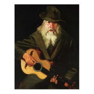 Hobo Musician by George Luks Post Card