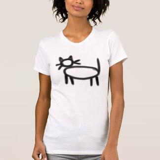 Hobo símbolo: Niño lady (black print) Camisetas